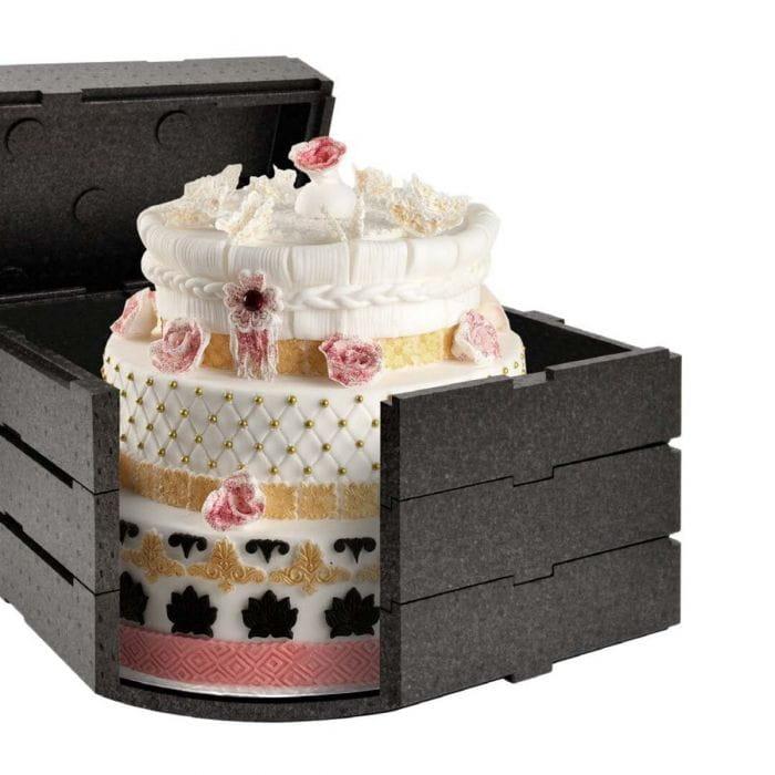 Pojemnik termoizolacyjny składany na tort  35x35x31,5 cm